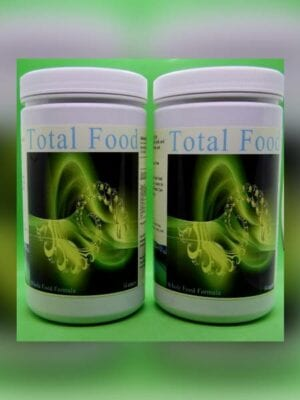 Two bottles of Total Food supplements